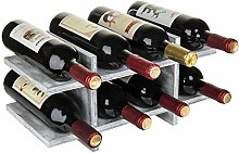 MyGift Weinregal für 8 Flaschen, rustikales