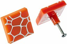 MyGrips GM100-128 Kindermöbel Knopf Muster Giraffe Türknopf / nauf, orange 3