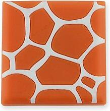 MyGrips GM100 Kindermöbel Knopf Muster Giraffe Türknopf / nauf, orange 1