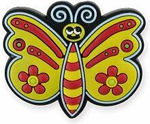 MyGrips GM116 Kindermöbel Knopf Schmetterling Türknopf/nauf, gelb/schwarz