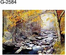 MYGYSJK 3D-Wandbild mit Boot-/Landschaftsmuster,