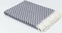 myHomery Decke aus Baumwolle - Tagesdecke leicht &