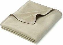 myHomery Uni Kuscheldecke aus Baumwolle - Decke