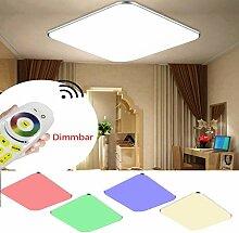 36W RGB Deckenleuchte LED Deckenlampe Beleuchtung Ultraslim Wohnzimmer Flur Lamp