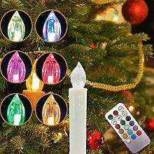 MYHOO 30 Stück RGB Bunt LED Weihnachtskerzen