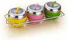 MYITIAN Edelstahl Apple Spice Jar kreative Spice