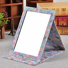 MYITIAN singlePU Desktop-Spiegel minimalistischer Kosmetikspiegel portable Spiegel Portable klappbare Spiegel Prinzessin-C