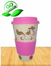 mylihe Kaffeebecher to go Bambus Einhorn
