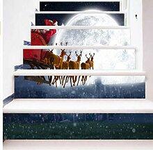 MYLOOO 3D-Aufkleber, Weihnachten,