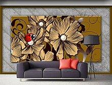MYLOOO Blumeneuropäer Tapeten 3D Vlies Wand Tapete