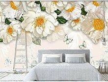 MYLOOO Einfache Blumenmalerei Fototapeten Vlies