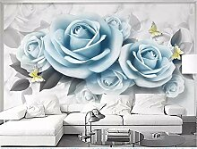 MYLOOO Einfache Blumenrose Fototapeten Tapete,