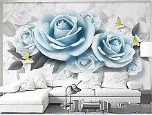 MYLOOO Einfache Blumenrose Fototapeten Vlies Wand