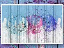 MYLOOO Einfache Farbschirmplatte Tapete 3D Vlies