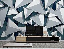 MYLOOO Einfache Geometrie Tapete 3D Vlies Wand