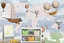 MYLOOO Fototapete 3D Cartoon Weltkarte