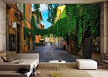 MYLOOO Fototapete Rom, Italien, Straßenansicht