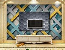 MYLOOO Geometrie Tapete 3D Vlies Wand Tapete