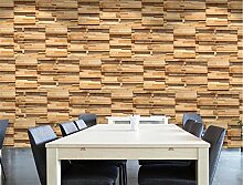 MYLOOO Holzmaserung Tapeten 3D Tapete, Wand