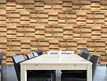MYLOOO Holzmaserung Tapeten 3D Vlies Wand Tapete