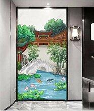 MYLOOO Tür Fototapete 3D Chinesische