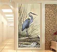 MYLOOO Tür Fototapete 3D Vogelfedern, Reis