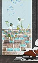 MYLOOO Tür Poster Chinesischer Lotus Tapete