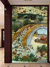 MYLOOO Tür Poster Geprägtes Chinesisch Tapete