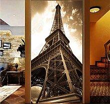 MYLOOO Tür Poster Turm Tapete Fototapete