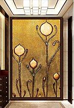 MYLOOO Türbild 3D Geprägte Goldene Blume