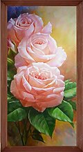 MYLOOO Türtapete 3D Rosa Rosenpflanze Wieder
