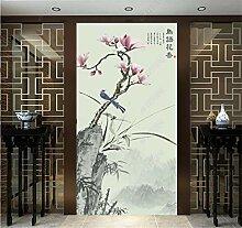 MYLOOO Türtapete Chinesische Blume Und Vogel
