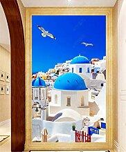 MYLOOO Türtapete Griechisches Romantisches
