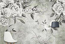MYLOOO Vintage Blume Fototapeten Vlies Wand Tapete