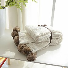 MYLUNE HOME Doppelseitige Luxus Stilvolle Strickdecke Sofadecke für Fernsehen oder Nap auf dem Stuhl, Sofa und Bett 130*160cm …