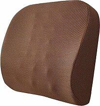 MYLUNE HOME Orthopädisches Memory Schaum Lendenkissen zur sofortigen Linderung für Sitzgelegenheiten und Stühle – zuhause, im Büro oder im Auto (brown)