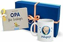 MyOma Opa Geschenk Set Opa mit Opa Tasse, Buch Opa