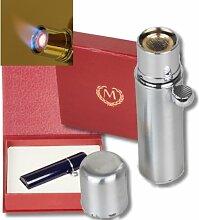 Myon-Paris Zigarren-Feuerzeug Havanna Silver-Satin