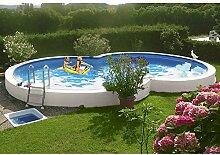 MYPOOL Achtformpool Premium, 525 x 320 x 120 cm, inkl. Bodenschutzvlies 320 cm, 525 cm, 120 cm