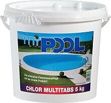 MyPool Chlortabletten Chlor Multitabs, 5 kg weiß