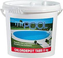 MyPool Chlortabletten Chlordepot Tabs, 5 kg weiß