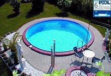 MyPool Rundbecken-Poolset Premium Ø 350 x 120 cm Halbhochbecken Sandfilteranlage