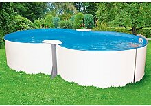 MYPOOL Set: Achtformpool Premium (5-tlg.) 320 cm, 525 cm, 135 cm