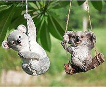MYPXX Koala und Panda-Statue Kreative Harz Garten