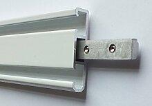 myraumdesign Aluminium Gardinenschiene 2 Läufe in
