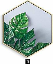 MYS-Bilderrahmen Grüne Pflanzen Thema Wandmalerei