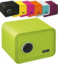MySafe Tresor Design Safe 250 x 350 x 280 mm (HxBxT) Zahlencode Schloss verschiedene Farben grün, lila, pink, blau/wei, Grün