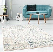 MyShop24h.de Teppich Flachflor mit Geometrischen