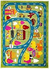 MyShop24h Kinderteppich Flachflor Moda Kids mit