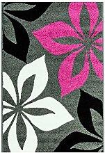 MyShop24h Teppich Flachflor Moda Geometrische Mit
